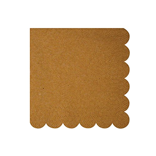 Meri Meri Kraft Scallop Edge Napkins (small) - Edge Napkins