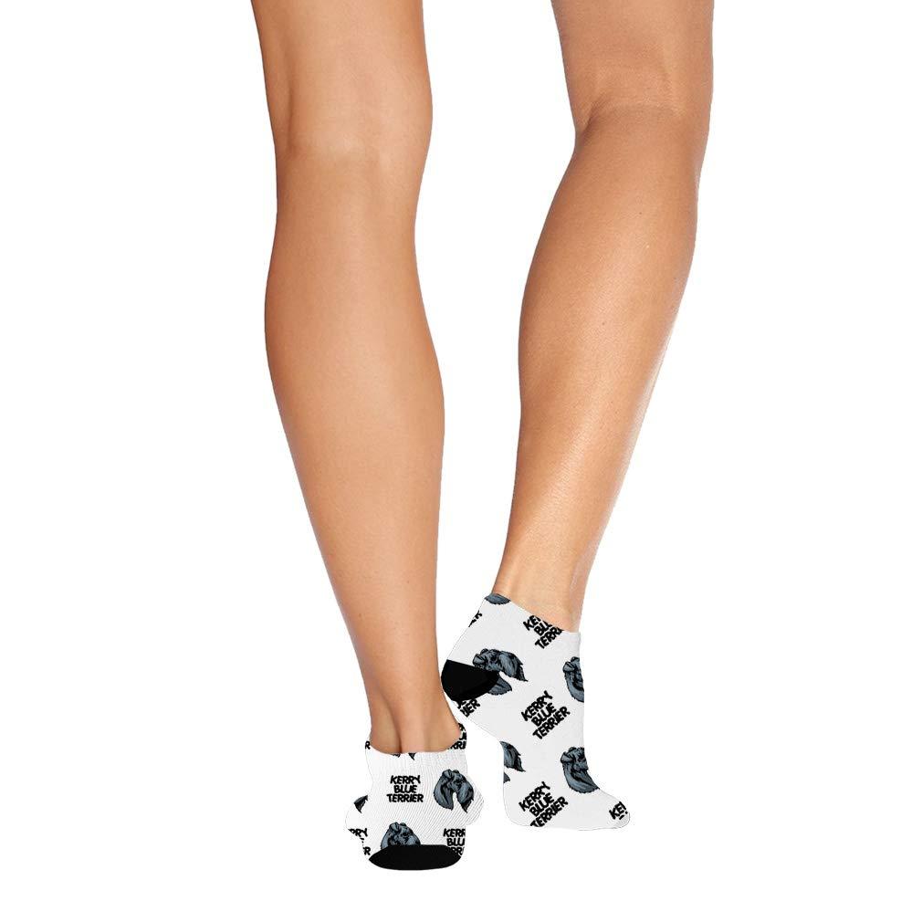 Kerry Blue Terrier Dog Breed Pattern #1 Men-Women Adult Ankle Socks