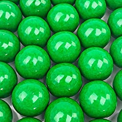 Green Gumballs - 2 Pound Bags - Large - One Inch in Diameter - About 120 Gumballs Per Bag - Free How To Build a Candy Buffet Guide Included …