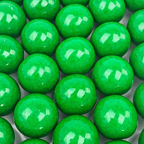 Green Candy Buffet (Green Gumballs - 2 Pound Bags - Large - One Inch in Diameter - About 120 Gumballs Per Bag - Free