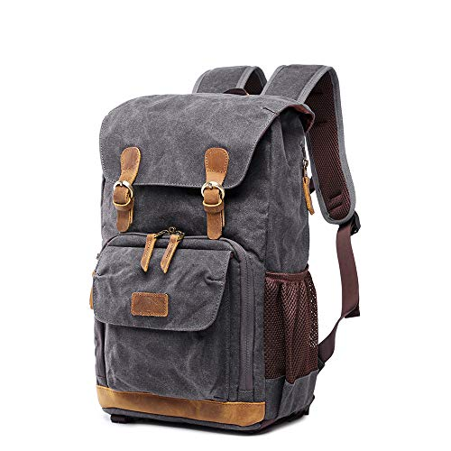 YXCM Camera Backpack,Batik Waterproof Canvas Photography Outdoor Wear-Resistant