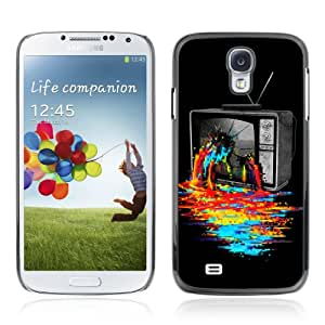 CQ Tech Phone Accessory: Carcasa Trasera Rigida Aluminio Para Samsung Galaxy S4 i9500 - Cool TV Colors Art