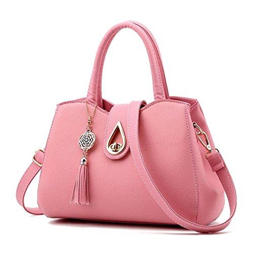 Sac fourre Handle tout gris Tassel cm célèbre sacs cuir Pink maxX30 Femmes Sacs Messenger Sac PU Top sac 20cmXLongueur main à Femmes Arrivel wzf8Fpq