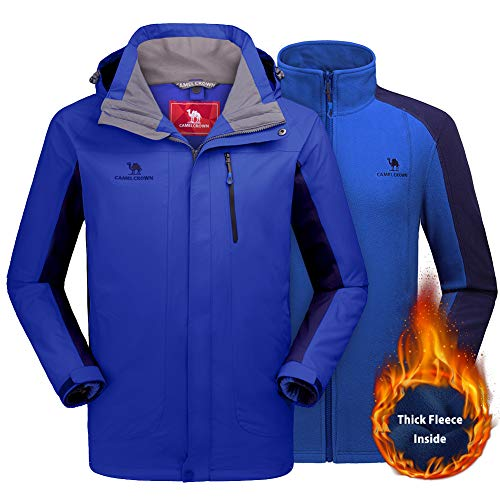 1920e29c Details about CAMEL CROWN Men's Ski Jacket 3 in 1 Waterproof Winter Jacket  Snow Jacket Windp