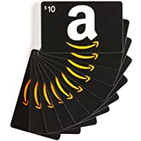 Amazon.com $10 Gift Cards, Pack of 10 (Classic Black Card Design)