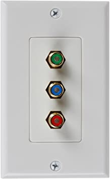 2RCA Stereo Audio RCA AV Composite Video 3RCA Wall Plate RGB Component Video