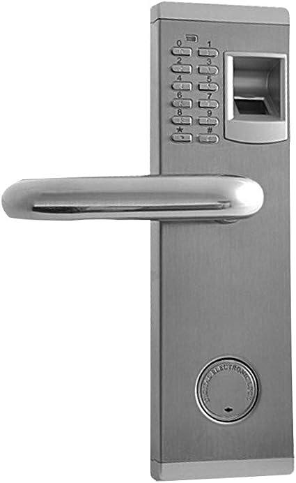 3 en 1 Cerradura de puerta Huella digital y teclado,cerraduras ...