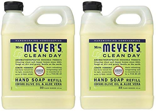 (Mrs. Meyers Liquid Hand Soap Refill Lemon Verbena, 2 Pack (33 oz))
