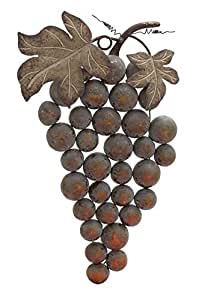 Amazon Com Deco 79 Metal Grape Wall Decor 19 By 36
