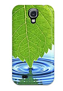 ZObttdg1885TzLBO Anti-scratch Case Cover ZippyDoritEduard Protective Leaf Touching The Water Case For Galaxy S4