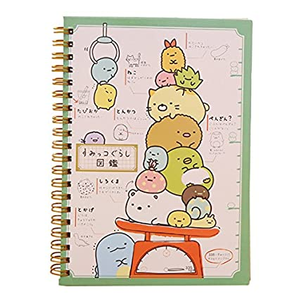 SODIAL(R) Kawaii Japan cartoon Rilakkuma & Sumikkogurashi Coil notebook/Diary agenda/pocket book/office school supplies£¨weighing£