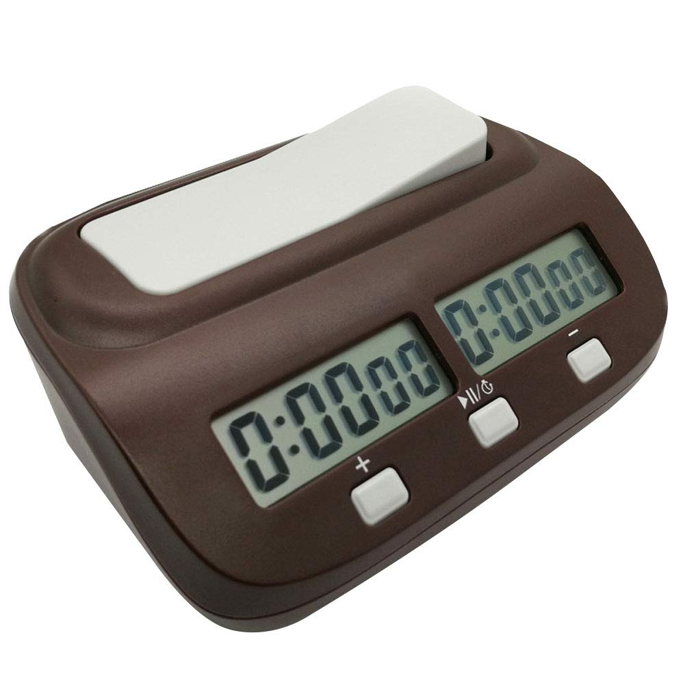 CoURTerzsl International Chess digitale professionale gioco concorrenza conteggio allarme timer Chess Clock, Brown