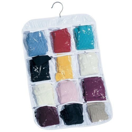 household-essentials-hanging-clear-vinyl-12-pocket-stocking-organizer-new-fre