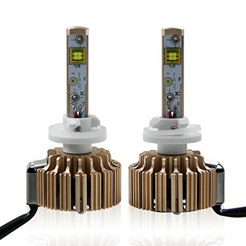 Win Power Golden 880 Waterproof CREE LED Headlights Bulbs 6K + Canbus Kit (1 Pair)-2 Year Warranty