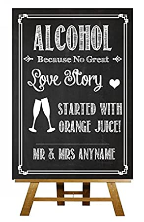 Chalkboard Style Alcohol Vintage Chalk Sketch Collection