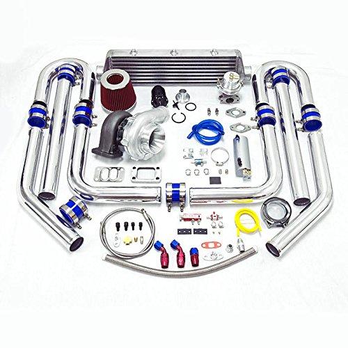 Universal High Performance Upgrade T70 12pc Turbo Kit (Silver Intercooler/Silver Pipping)