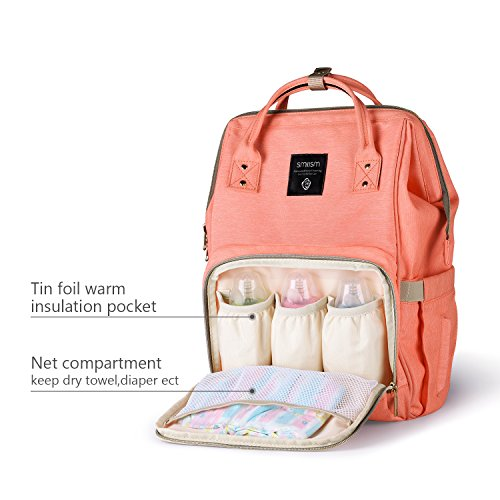 diaper bag backpack for baby care multi functional baby nappy changing bag with insulated. Black Bedroom Furniture Sets. Home Design Ideas