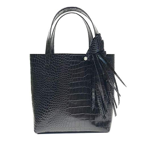 (Monique Tote 5 – Premium Italian Leather Featuring Swarovski Fringe + Bag Accessory)