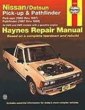 H72030 Haynes Nissan Datsun Pickups Pathfinder 1980-1997 Repair Manual