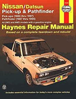 h72030 haynes nissan datsun pickups pathfinder 1980 1997 repair rh amazon com 06 Nissan Pathfinder Repair Manual 2007 Nissan Pathfinder Manual Chilton