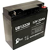 TEMPEST TR18-12 Battery - Replacement UB12220 Universal Sealed Lead Acid Battery (12V, 22Ah, 22000mAh, T4 Terminal, AGM, SLA)