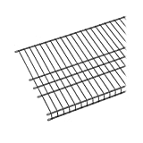 ClosetMaid 73571 Maximum Load 6ft. by 16in. Garage Wire Shelf, Satin Chrome