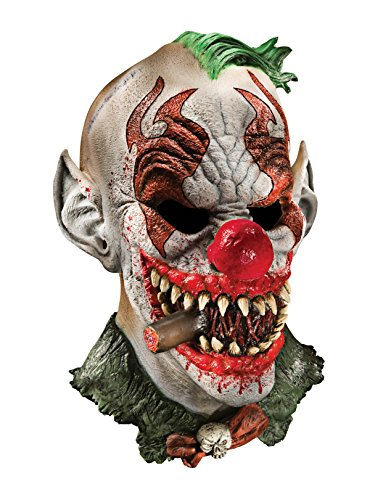 Foam Latex Mask, Deluxe Fonzo The Clown-Adult ()