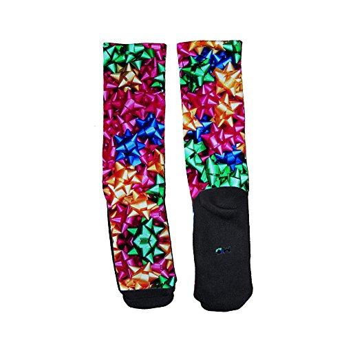 Just Sockz Unisex All Bowzzz Ugly Christmas Socks X-Large