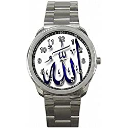 Daguys custom Allah Muslim God Islam Muhammad Custom Sports Watch Wrist Watch unisex watch