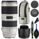 Canon EF 70-200mm f/2.8L IS II USM Lens + Lens Cleaning Pen + Dust Blower + Pixibytes Microfiber Cleaning Cloth - International Version