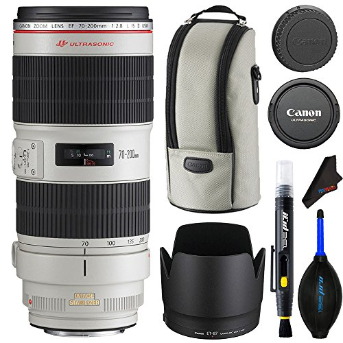 Canon EF 70-200mm f/2.8L IS II USM Lens + Lens Cleaning Pen + Dust Blower + Pixibytes Microfiber Cleaning Cloth - International Version by Pixibytes