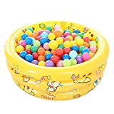 Fenfen Children Pool Inflatable Pool Baby Ocean Ball Pool Plastic Ball 50, Blue/Pink/Yellow, 100 35cm (Color : Yellow)