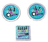 Sparkle Spa Party Bundle 9'' Plates (16) Napkins (16)