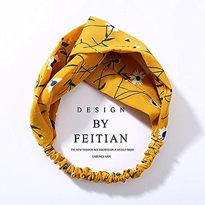 MultiKing Bandeau Coréen Coréen Accessoires cheveux Accessoires cheveux Fashion Cross Bow Noeud Floral mousseline Accessoires cheveux Coiffure