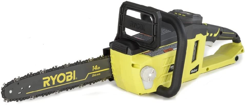 Amazon Com Ryobi Ry40511 40v Cordless Brushless Lithium Ion 14 In Chainsaw Garden Outdoor