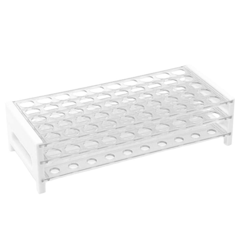 Karter Scientific 208V6 Plastic Test Tube Rack for 12/13mm Tubes, Holds 50, Detachable (Case of 20) by Karter Scientific