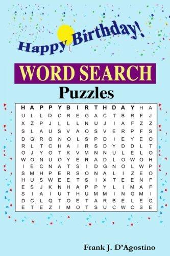 Happy Birthday Word Search Amazon Co Uk D Agostino Mr Frank J 9781720499619 Books