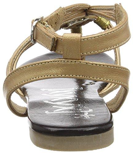 Mujer Sandalias Negro de Tobillo Sandal Oro xyxyx OTvqII