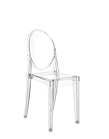 Amazon.com: Kartell Victoria Ghost Chair - Transparent Smoke Grey ...