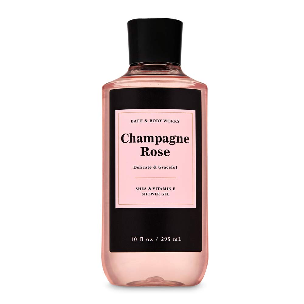 Bath and Body Works Champagne Rose Delicate & Graceful Shower Gel with Shea Butter and Vitamin E 10 fl oz / 295 mL