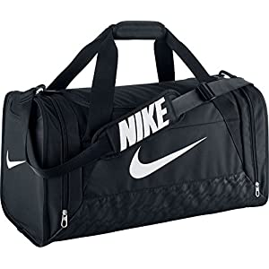 Nike Brasilia 6 Duffel Bag Black/White Size Medium
