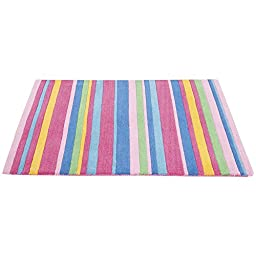 JoJo Maman Bebe Rug, Pink Stripe, Large