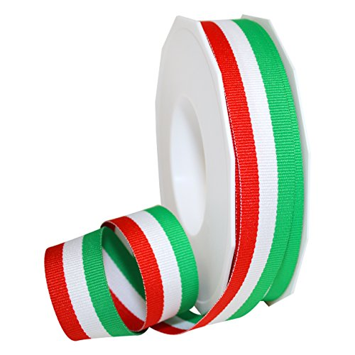 Italian Ribbon (Morex Ribbon 99505/20-816 Polyester Grosgrain Stripes, 7/8