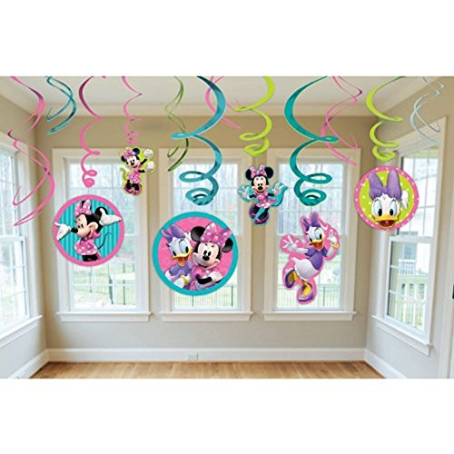 Minnie Swirl Decorations, mickey mouse club house,12 pieces Cut Out Swirl