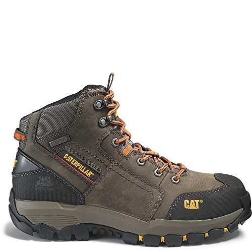 Caterpillar Men's Navigator Mid Waterproof Work 6 inch Waterpoofeel Toe, Dark Gull Grey, 11 W US