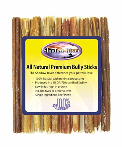 Shadow River 10 Pack 6 Inch Thin All Natural Premium Beef Bully Sticks For Dogs