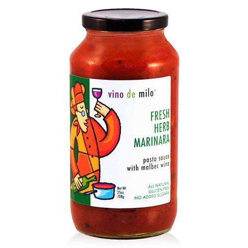 Vino de Milo No Sugar Added Pasta Sauce (25 oz) - Fresh Herb Marinara (25 ()