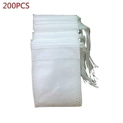 Tangpingsi 200 piezas de bolsas de filtro de té desechables ...