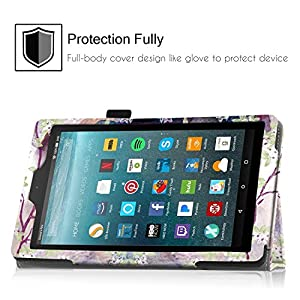 Famavala Folio Case Cover For 7-Inch Fire 7 Tablet [5th Generation 2015 / 7th Generation 2017] (LoveTree)
