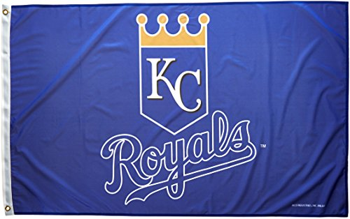 MLB Kansas City Royals 3-Foot by 5-Foot Banner Flag